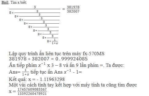 Giải những bài toán cao cấp trên máy tính Casio 570VN Plus