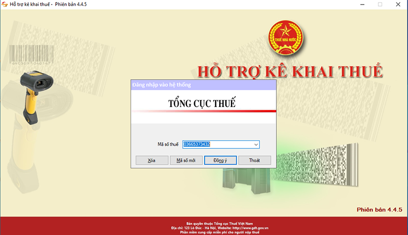 Phần mềm kê khai thuế mới nhất